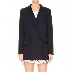 Finders Keepers Navy Blue Think Twice Blazer
